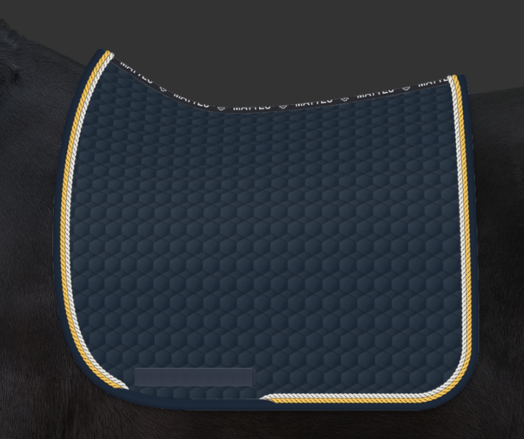 COMING SOON | E.A. Mattes Dressage Square Saddle Pad Large / Navy