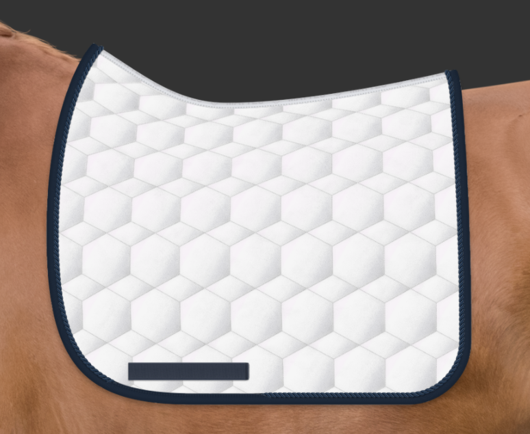 ARRIVING SOON! | E.A. Mattes Dressage Square Saddle Pad Large / White Sheen