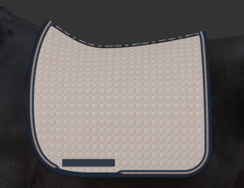 COMING SOON | E.A. Mattes Dressage Square Saddle Pad Large / Walnut