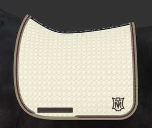 Load image into Gallery viewer, E.A. Mattes Dressage Square Saddle Pad Large / Champagne - NextGen Equine