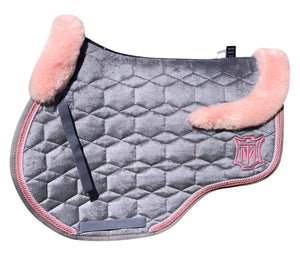 E.A.Mattes Eurofit Jumping Pad Sheepskin on Top Medium / Slate Velvet
