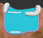 ARRIVING SOON | E.A. Mattes Dressage Eurofit Saddle Pad Sheepskin on Top Large / Turquoise