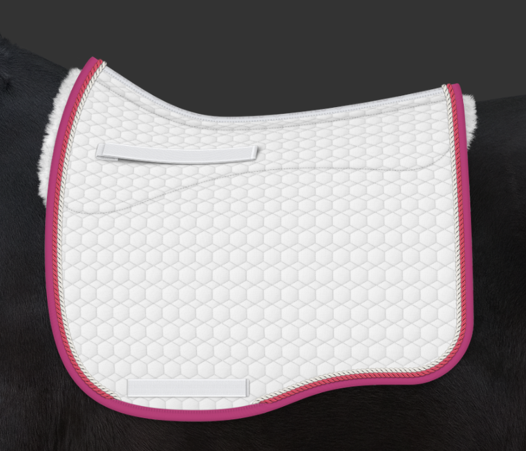 E.A. Mattes Dressage Eurofit Saddle Pad w/ Sheepskin Panels Large / White - NextGen Equine