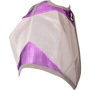 Load image into Gallery viewer, Cashel Crusader Fly Mask Standard Purple (Orchid) & Grey