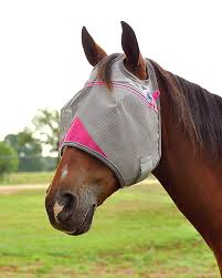 Cashel Crusader Fly Mask Standard Pink & Grey