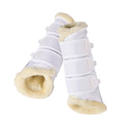 Eskadron Faux Fur Tendon Boots White