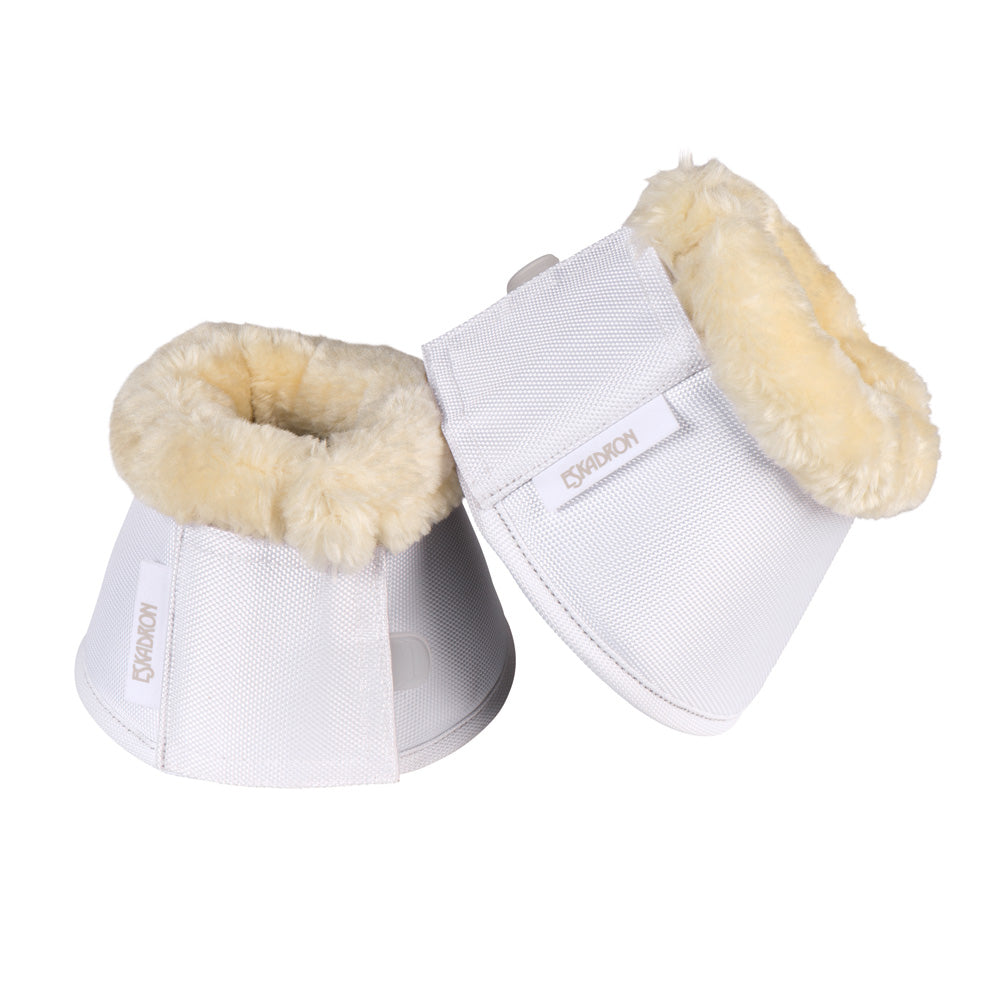 Load image into Gallery viewer, Eskadron Faux Fur Bell Boots White - NextGen Equine
