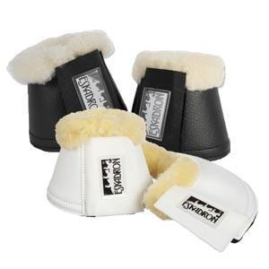 Eskadron Artificial Leather Bell Boots with Sheepskin - NextGen Equine