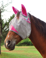 Cashel Crusader Fly Mask w/ Ears Grey & Pink
