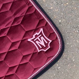 E.A. Mattes Dressage Square Saddle Pad Large / Velvet Burgundy