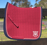 E.A. Mattes Dressage Square Saddle Pad M & L / Burgundy