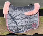 E.A.Mattes Eurofit Dressage Pad Sheepskin on Top & Bottom / Slate Velvet