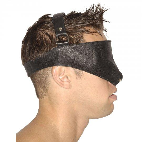 Sensory deprivation mask with straps