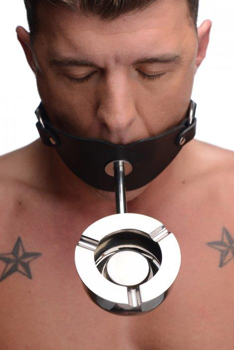 Ashtray Ball Gag Smoking Fetish