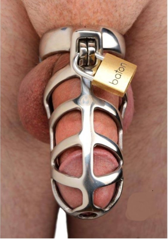 The Cold Steel Cock Cage Male Chastity Device