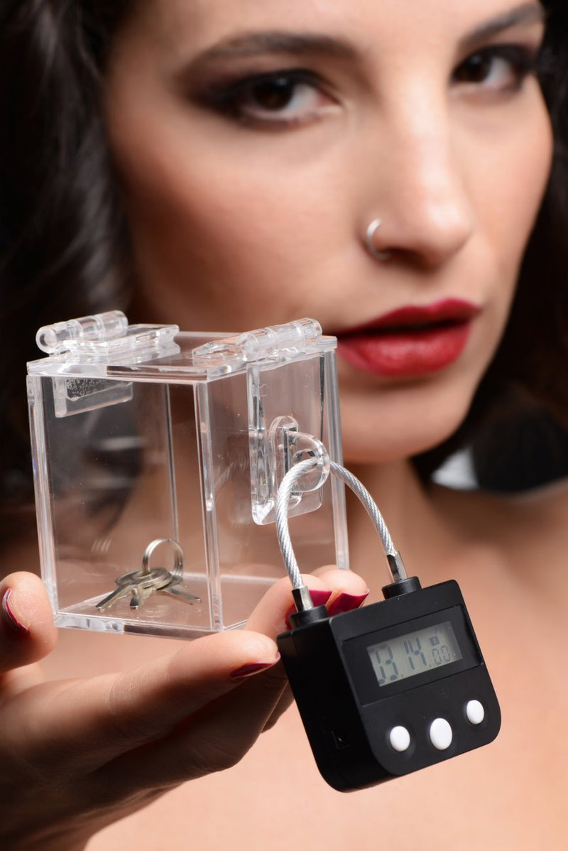 bdsm fetish chastity lock and case lock box