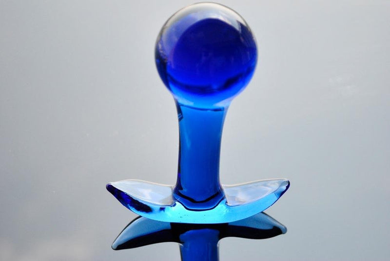 The Bluesome Luxury Hand Blown Glass Anal Plug