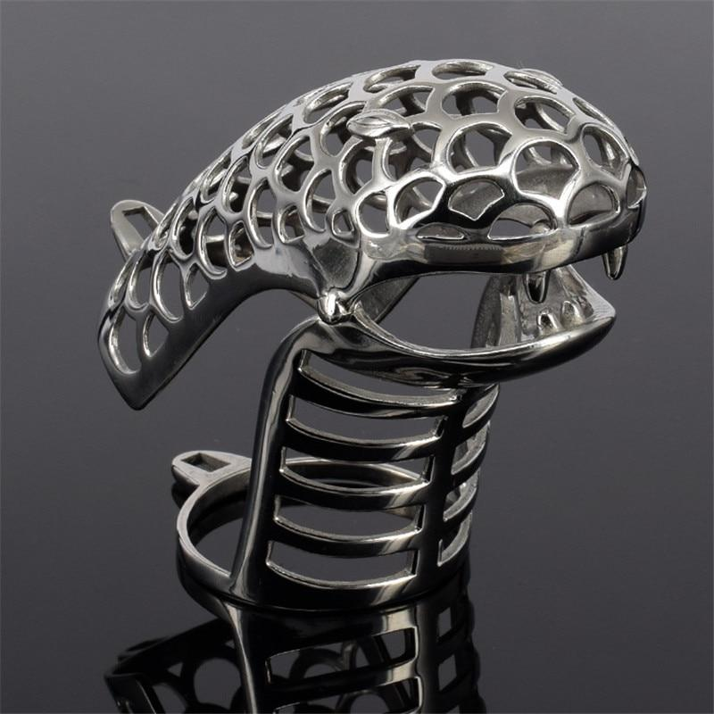 Cobra Chastity Cage Hand Polished Totem Cage