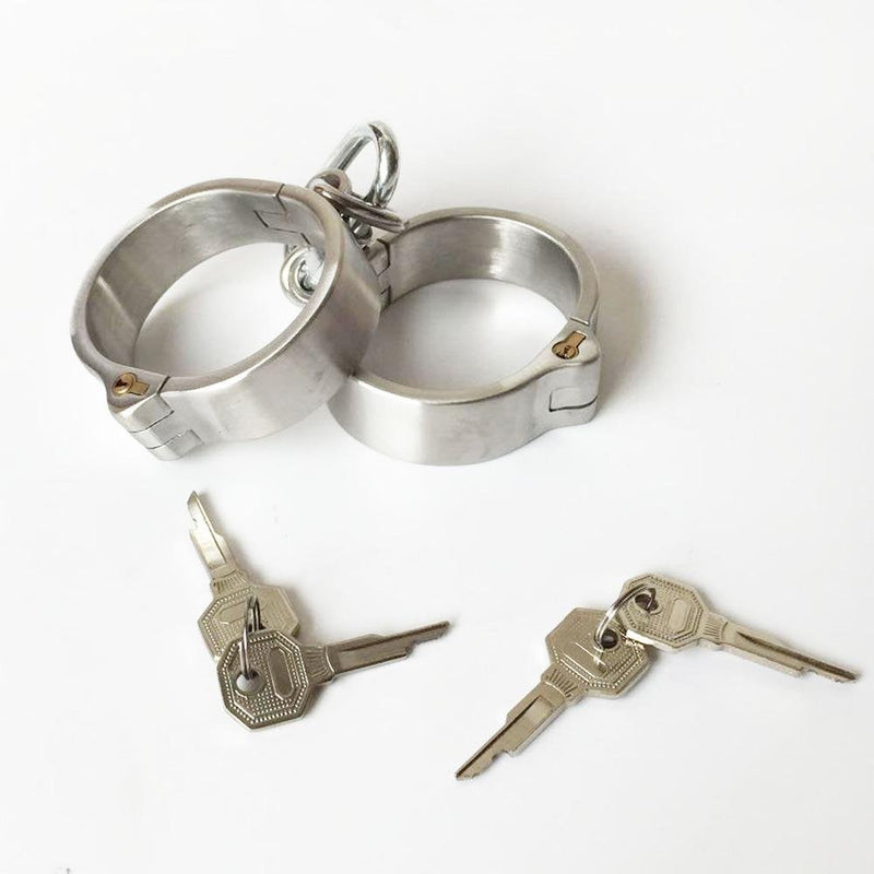 Stainless Steel Heavy Duty Handcuffs Fetish Shackles