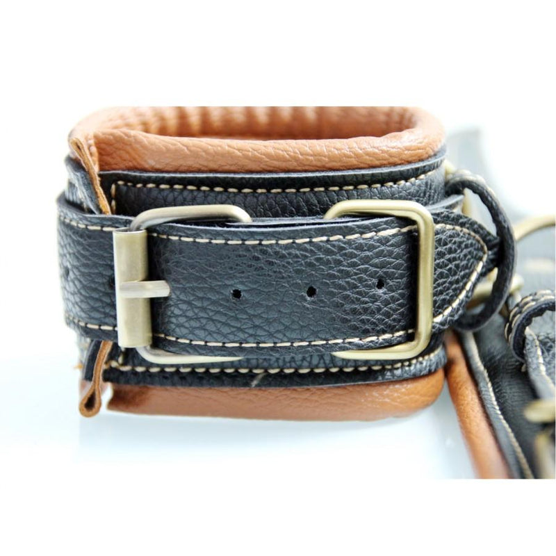 Fancy Retro Double Layer Padded Leather Cuffs