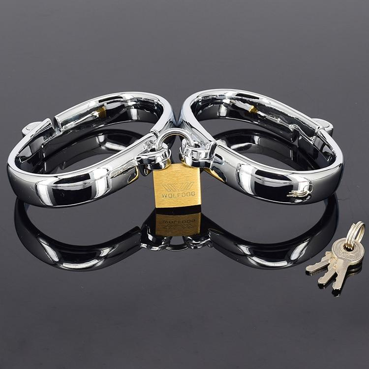 Hinged Strict Stainless Steel Handcuffs