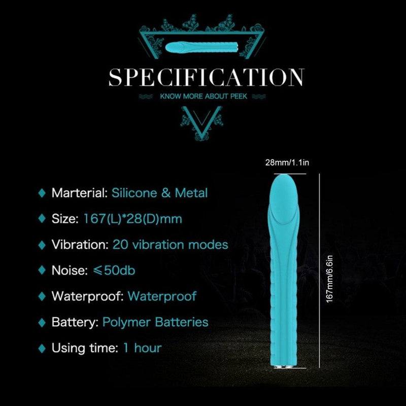 The Alien Penis Viber 20 Speeds Vibrating Dildo for Clitoral and G spot Stimulation