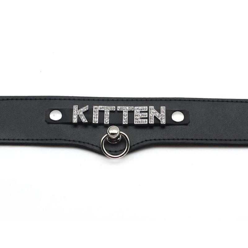 kitten leather collar