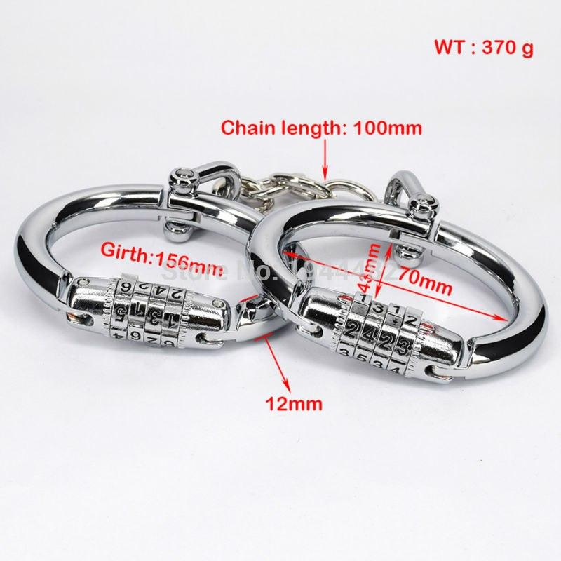 Code Based Stainless Steel Fetish Handcuffs
