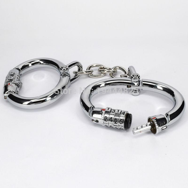 Code steel fetish bdsm handcuffs