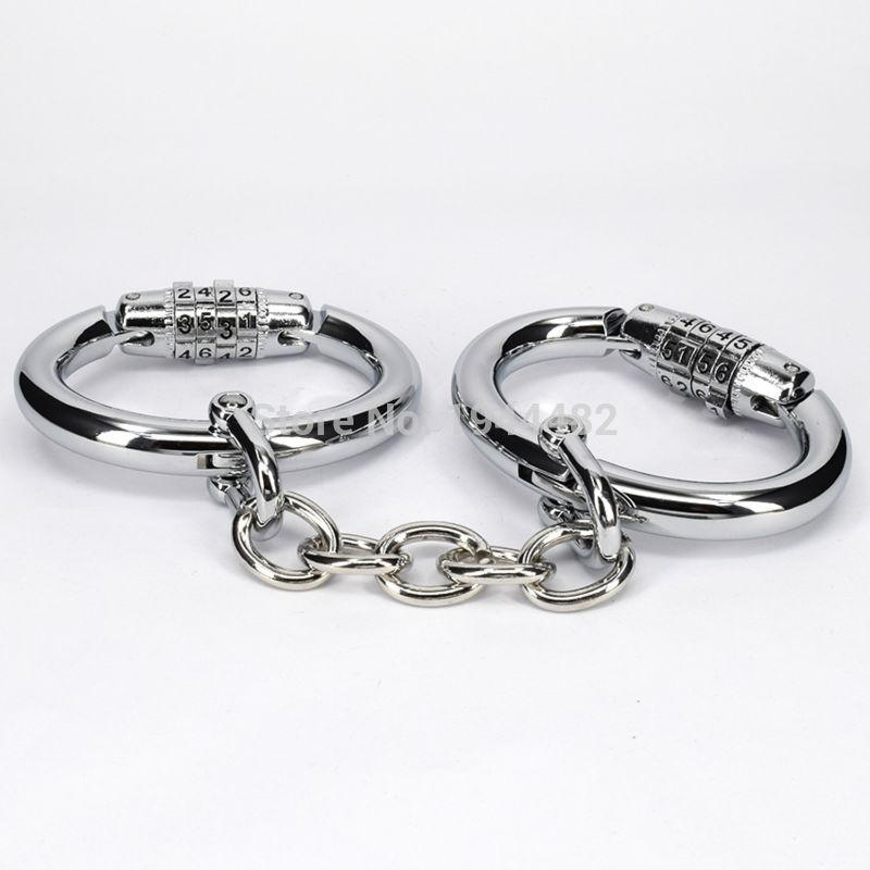 bdsm extreme steel handcuffs