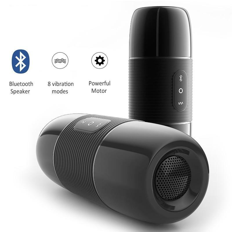 Discreet Bluetooth Speaker Masturbator with Realistic Pussy