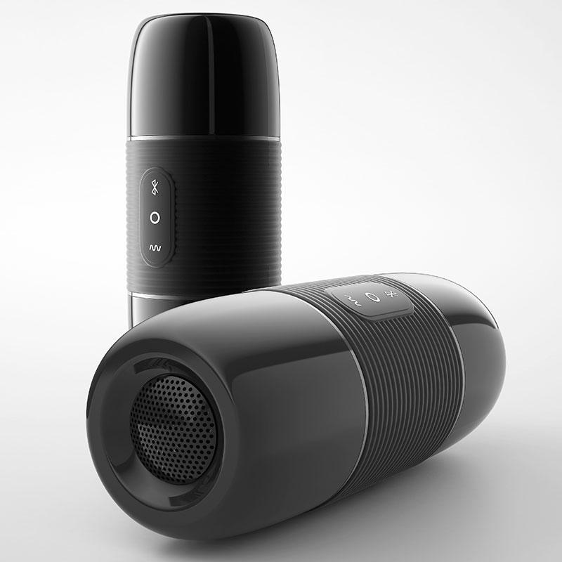 Discreet Bluetooth Speaker Realistic Pussy Male Masturbator with 10 Frequencies