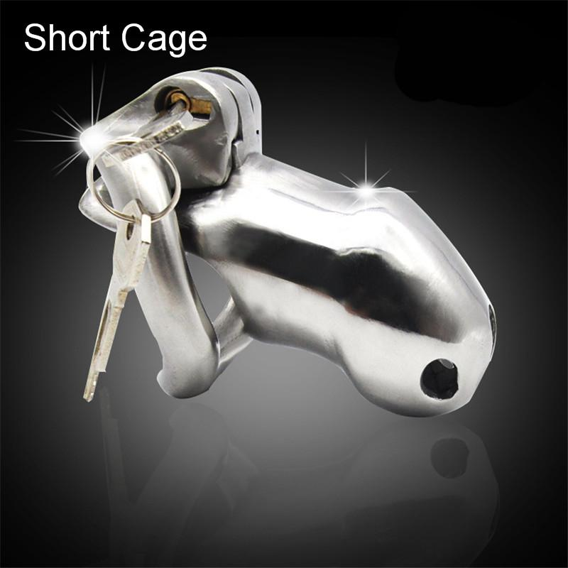 Stainless Steel Male Chastity Penis Cage with Internal Lock