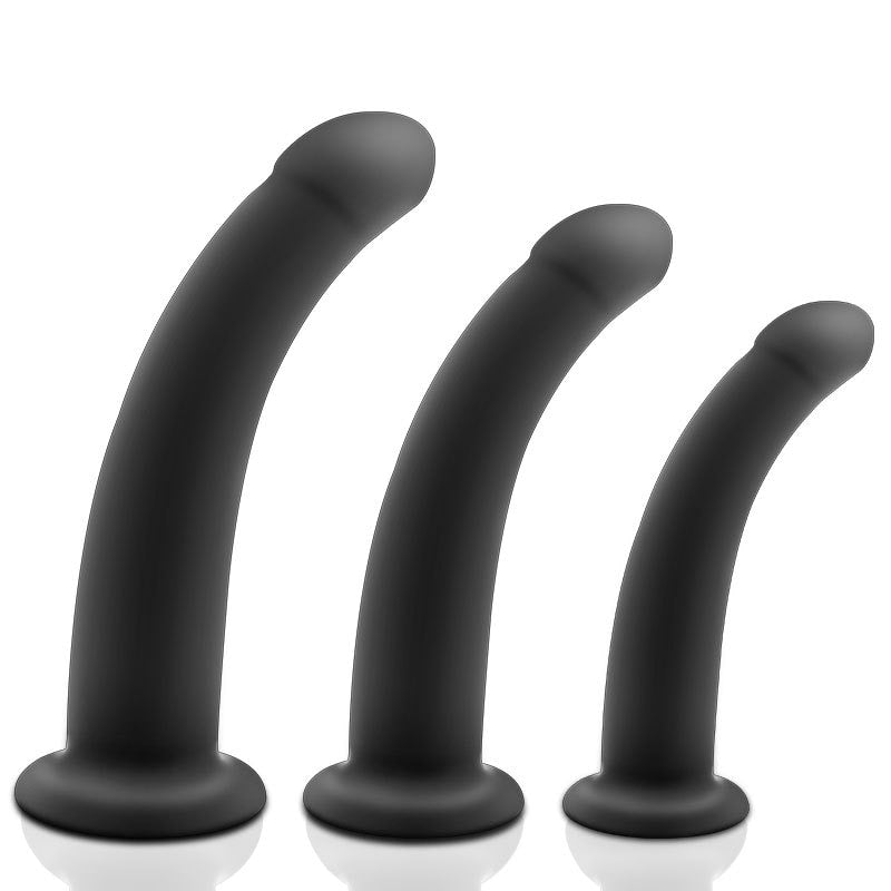 Versatile Three Sizes Beginner to Pros Unisex Strap-On + Dildo + Anal Plug Harness Kit