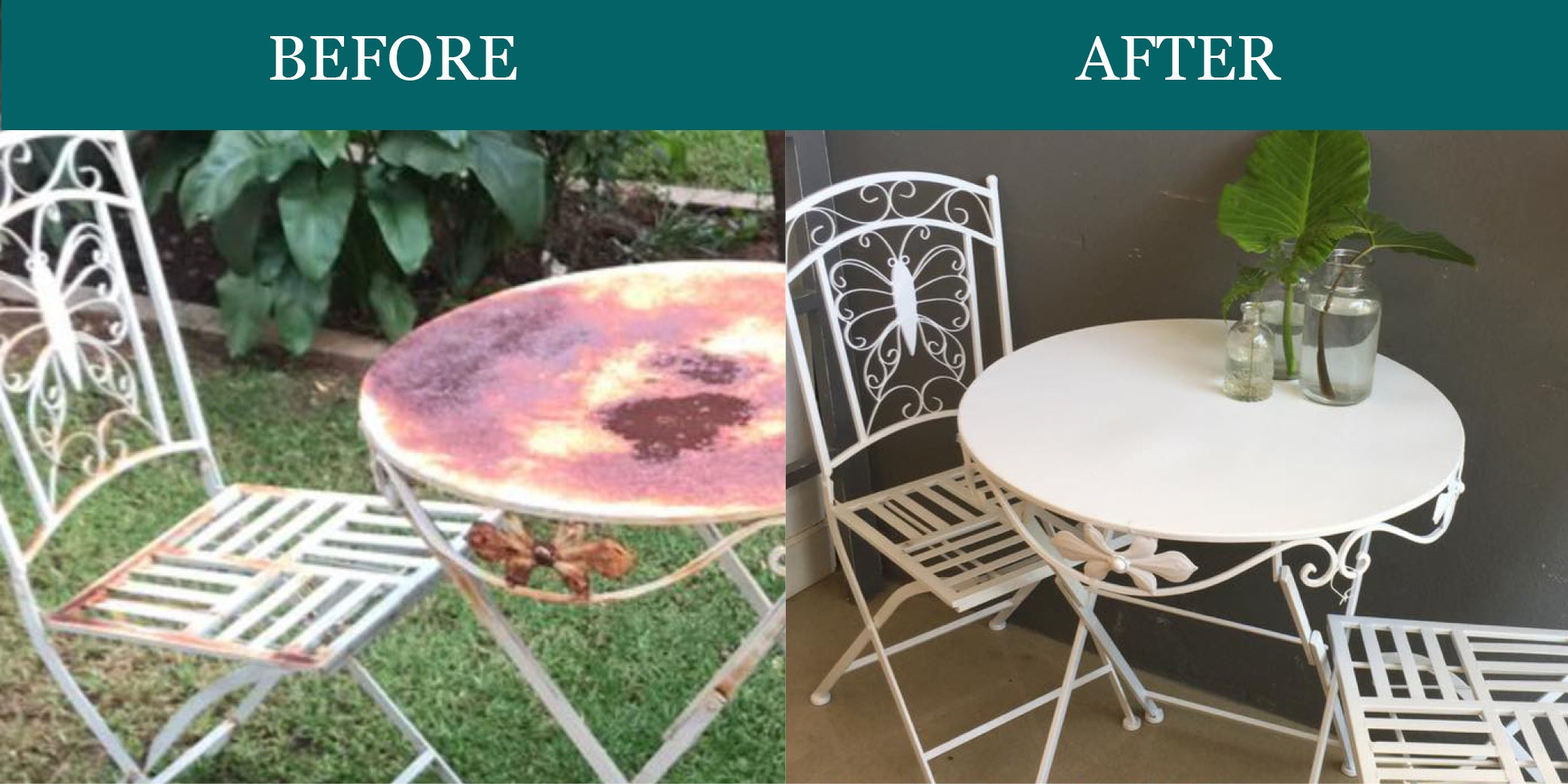 Metal Furniture Makeover