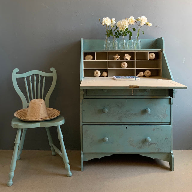Desk transformed with Annie Sloan