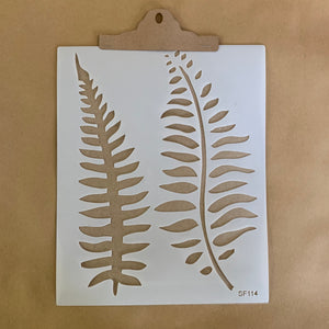 fern leaves stencil114