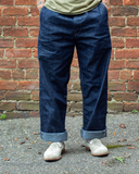 Leigh Chino Indigo Cone Natural Stitching