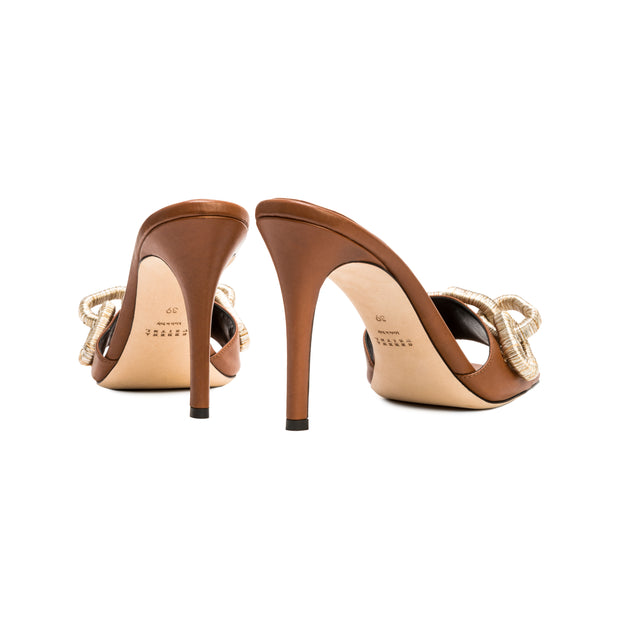 Catena Tan Leather High-Heel Sandal