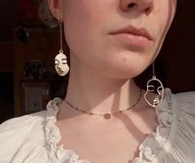 Load image into Gallery viewer, 🎭Face & Outline Dangle Earrings🎭