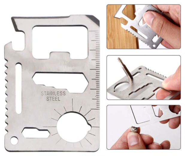 Multifunction Credit Card Sized Multi Tool 11 in 1