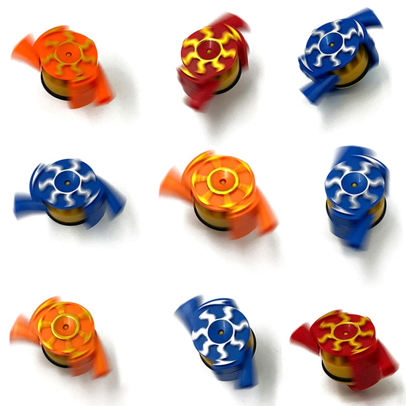 Spinning Top Novelty Whistle Gyro Toys Blowing Rotation Stress Relief Desktop Spinning Top Toys Kids Toys Gift