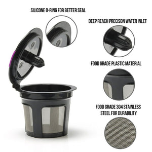 Refillable Coffee K-Cup Capsule Reusable Coffee Filter Holder
