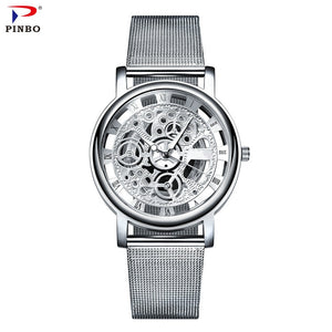 stainless steel mens quartz watch suuuper slick
