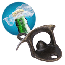 Load image into Gallery viewer, Steel Wall Mounted Beer Bottle Opener Great For Drunks Who Misplace Things