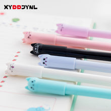 Load image into Gallery viewer, 1pc Cute Cat Gel Pen 0.5mm Full Needle Black