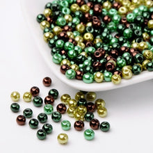 Load image into Gallery viewer, 4/6/8mm Hot Mix Pearlized Glass Pearl Loose Jewelry Making DIY Bijoux Accessories Findings Ball Beads for Bracelet Necklace