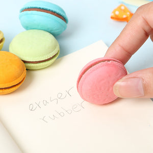 5  Macaron Shaped Rubber Erasers