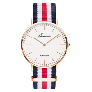 Top Luxury Brand Nylon Fashion Bracelet Quartz Watch Women Men Ladies Wrist Watch Wristwatches Clock Relojes Mujer relogio 8O28