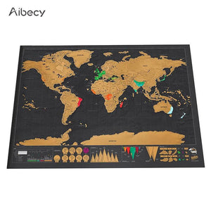 Scratch off World Travel Map Wall Sticker